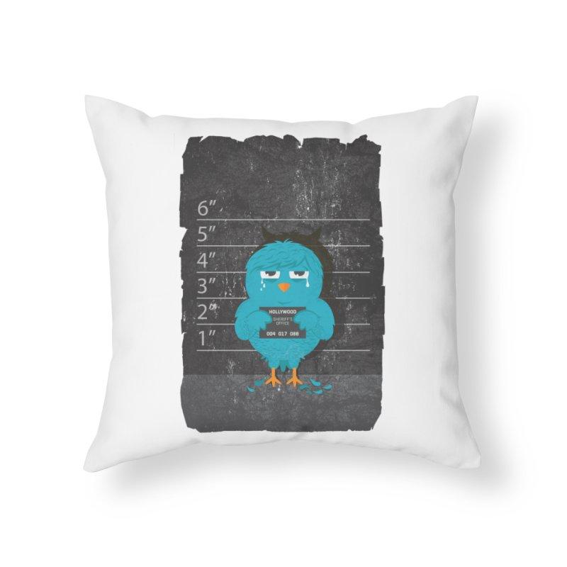 Illegal Twitter Home Throw Pillow by mitchdosdos's Shop