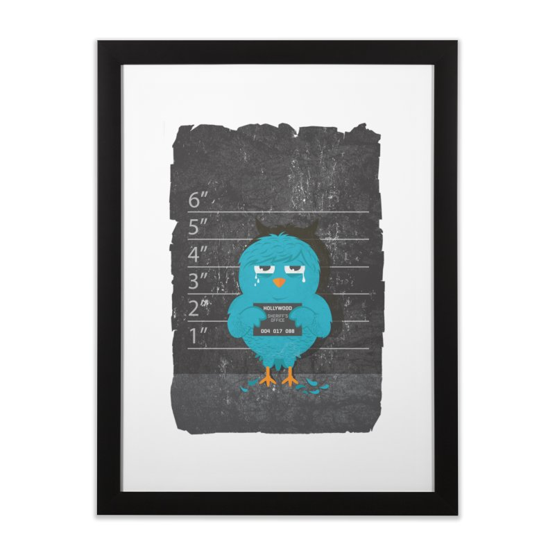 Illegal Twitter Home Framed Fine Art Print by mitchdosdos's Shop