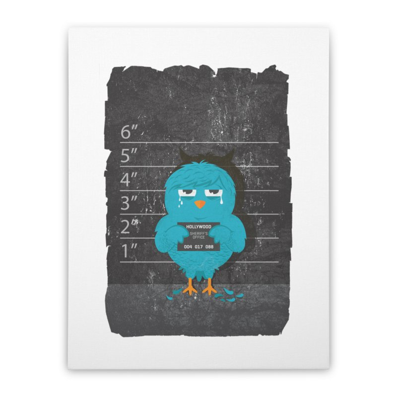 Illegal Twitter Home Stretched Canvas by mitchdosdos's Shop