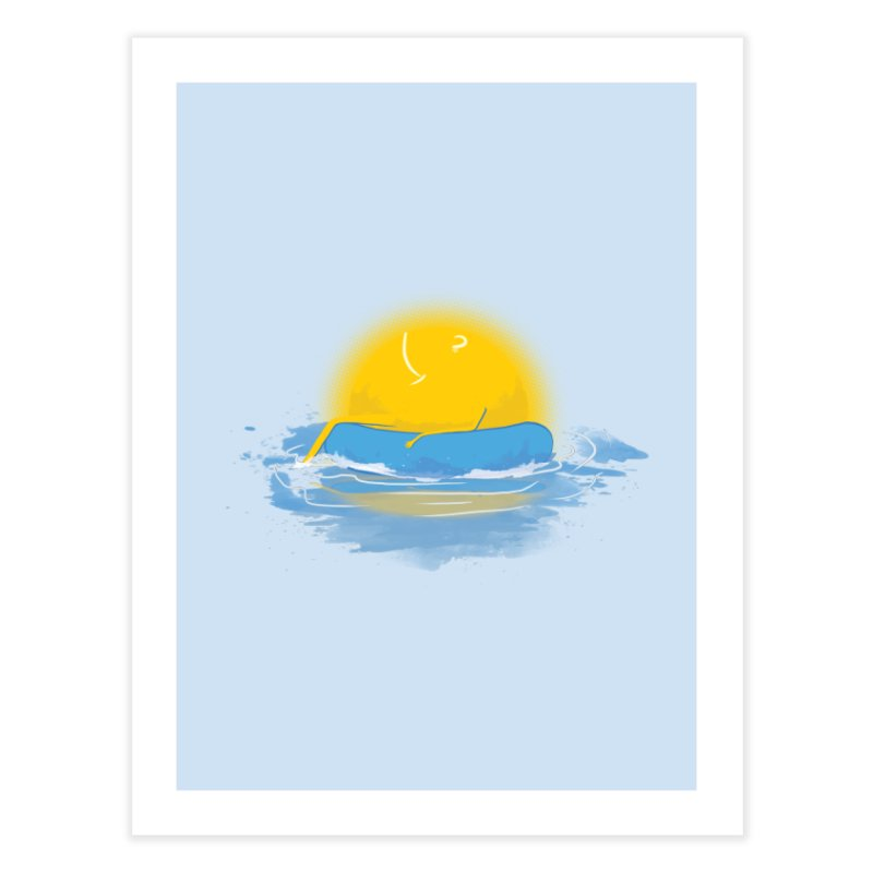 SUN Bathing Home Fine Art Print by mitchdosdos's Shop