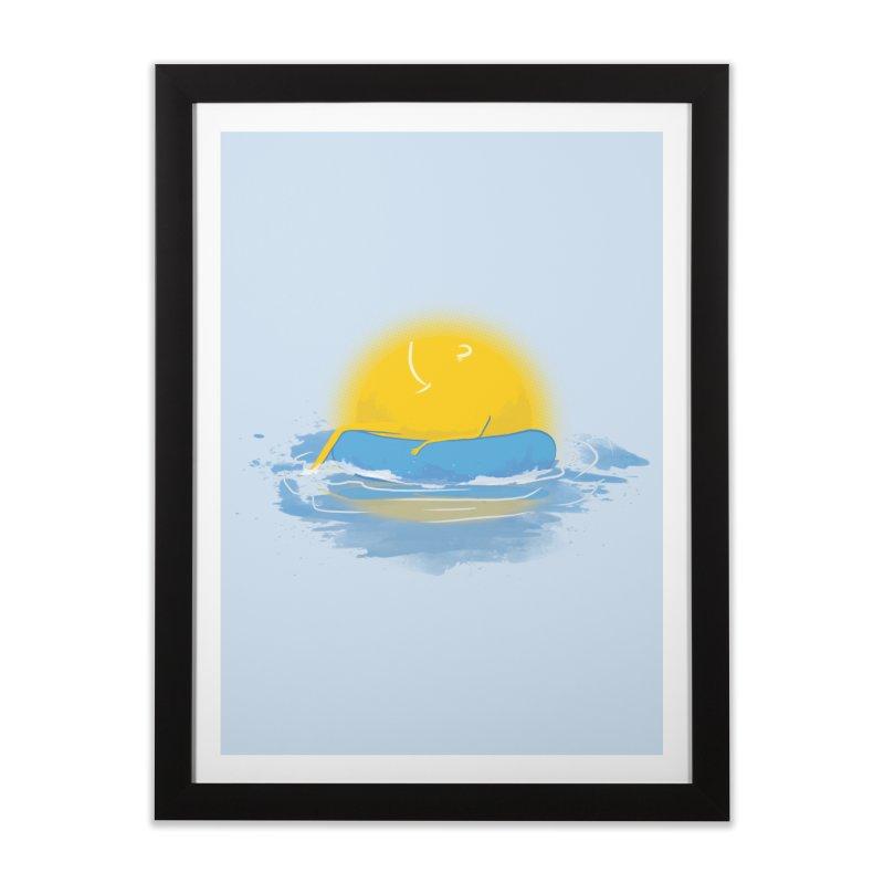 SUN Bathing Home Framed Fine Art Print by mitchdosdos's Shop