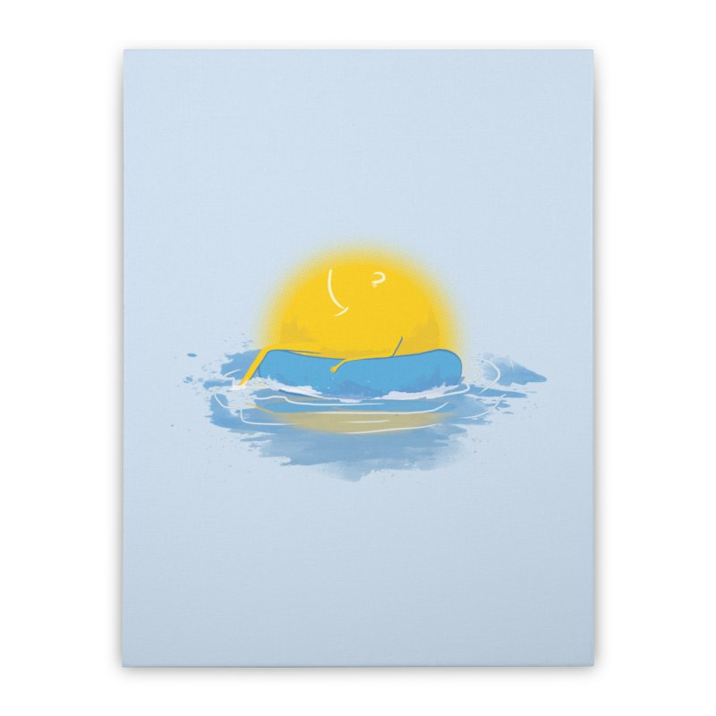 SUN Bathing Home Stretched Canvas by mitchdosdos's Shop