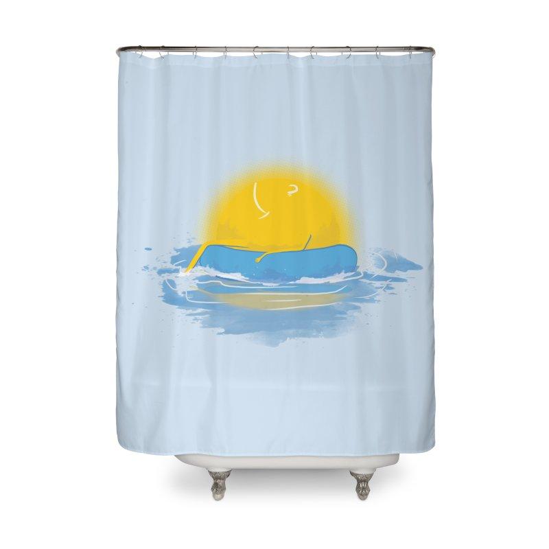 SUN Bathing Home Shower Curtain by mitchdosdos's Shop