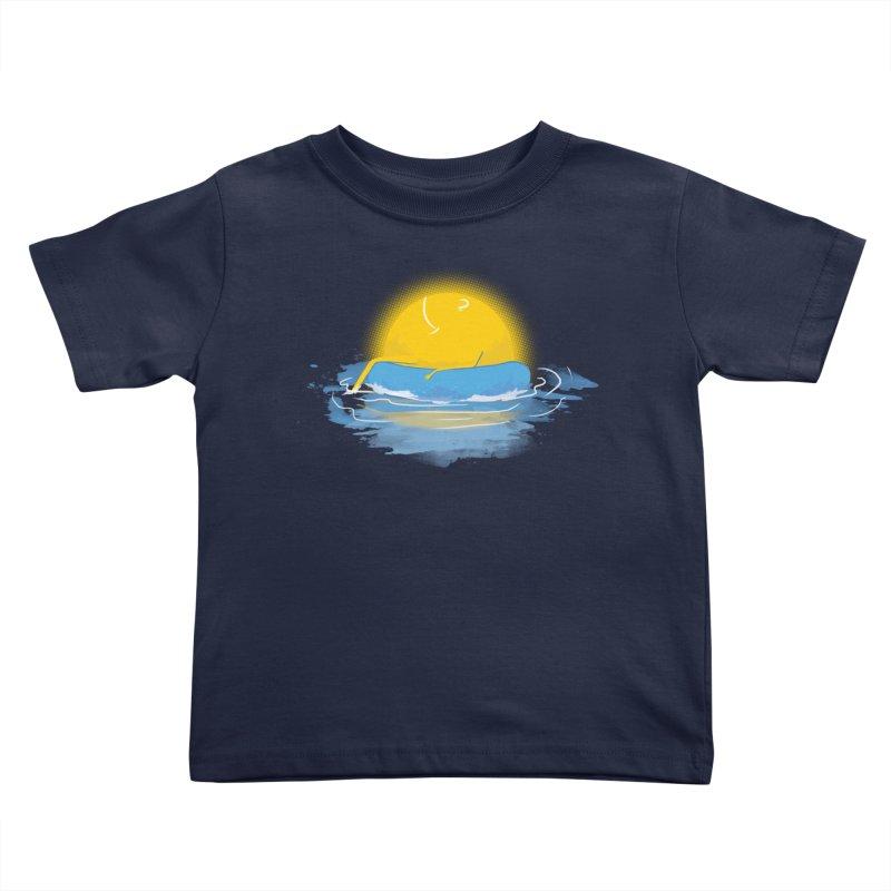 SUN Bathing Kids Toddler T-Shirt by mitchdosdos's Shop