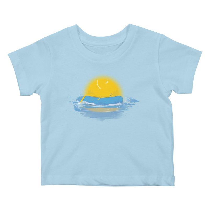 SUN Bathing Kids Baby T-Shirt by mitchdosdos's Shop