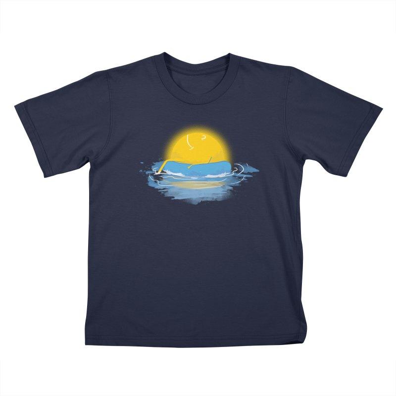 SUN Bathing Kids T-Shirt by mitchdosdos's Shop