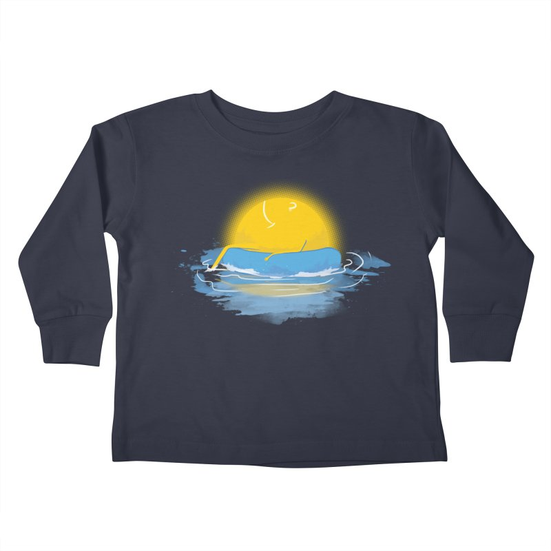 SUN Bathing Kids Toddler Longsleeve T-Shirt by mitchdosdos's Shop