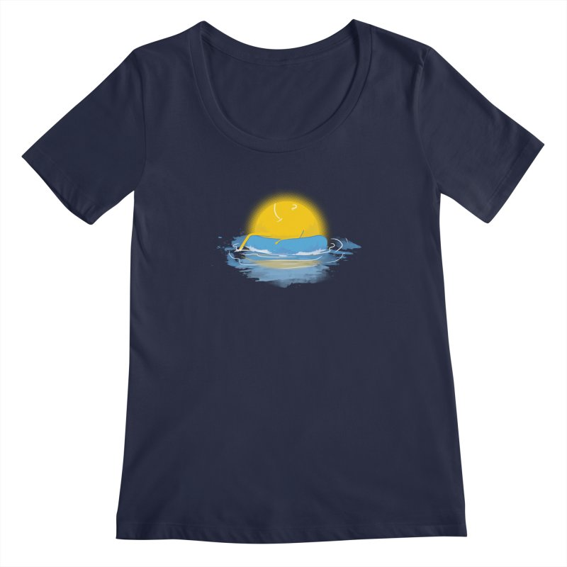 SUN Bathing Women's Scoopneck by mitchdosdos's Shop