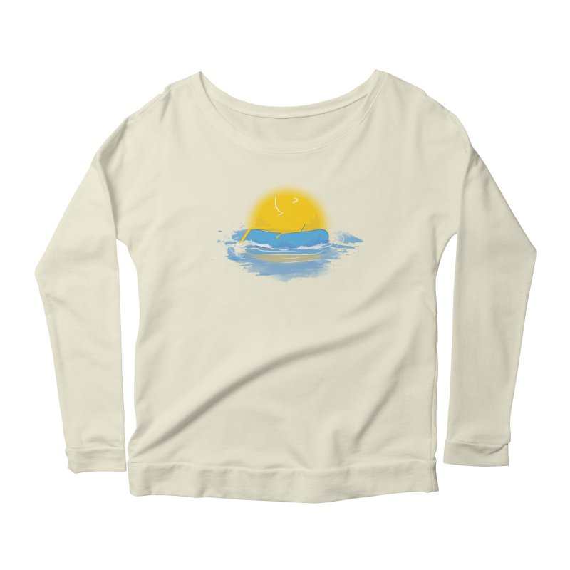 SUN Bathing Women's Longsleeve Scoopneck  by mitchdosdos's Shop