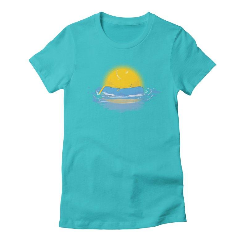 SUN Bathing Women's Fitted T-Shirt by mitchdosdos's Shop