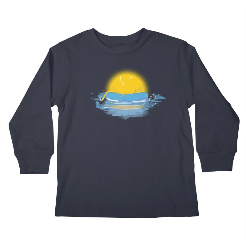 SUN Bathing Kids Longsleeve T-Shirt by mitchdosdos's Shop