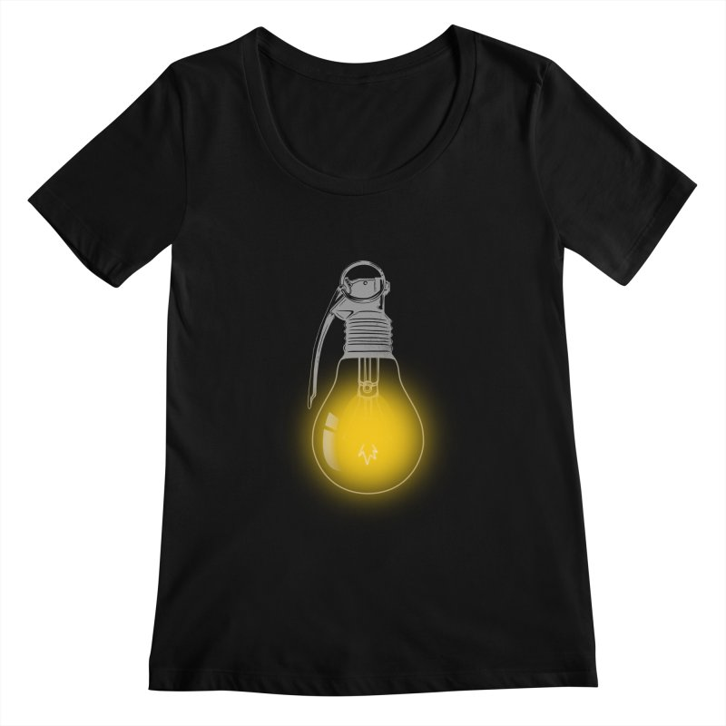 Explosive Idea Women's Scoopneck by mitchdosdos's Shop