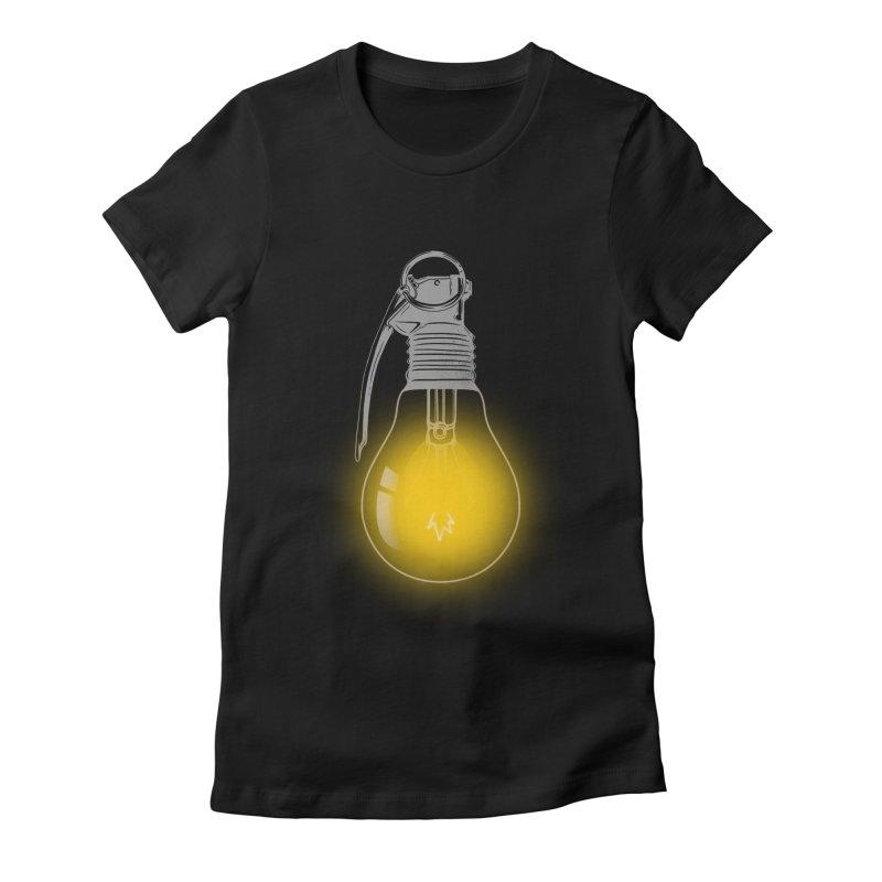 Explosive Idea Women's Fitted T-Shirt by mitchdosdos's Shop