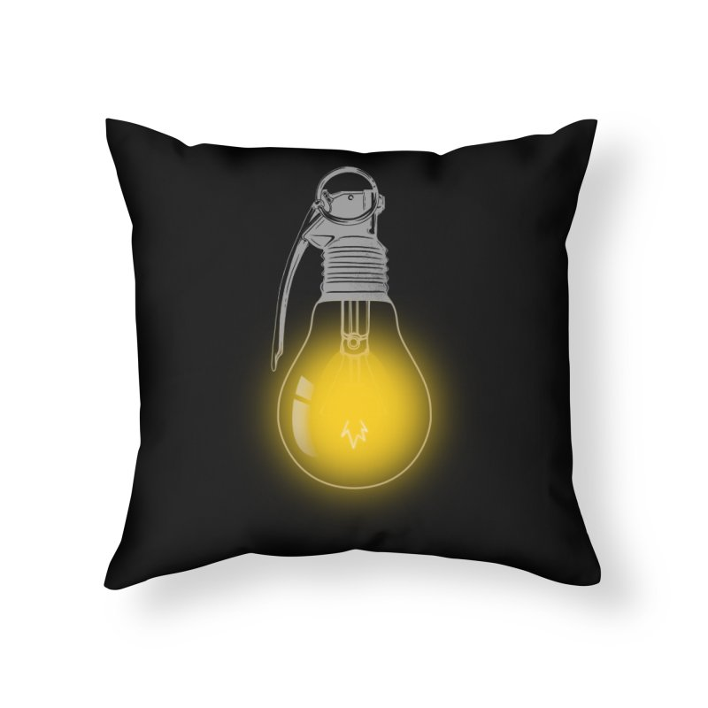 Explosive Idea Home Throw Pillow by mitchdosdos's Shop