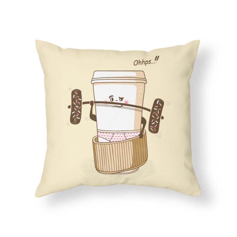Working It Out Home Throw Pillow by mitchdosdos's Shop