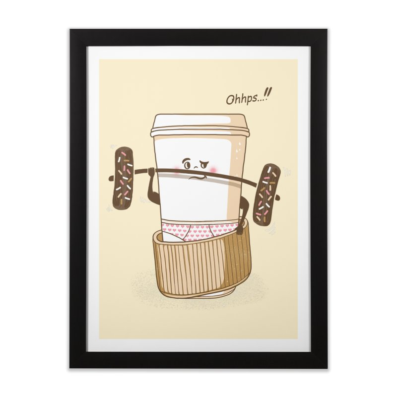 Working It Out Home Framed Fine Art Print by mitchdosdos's Shop