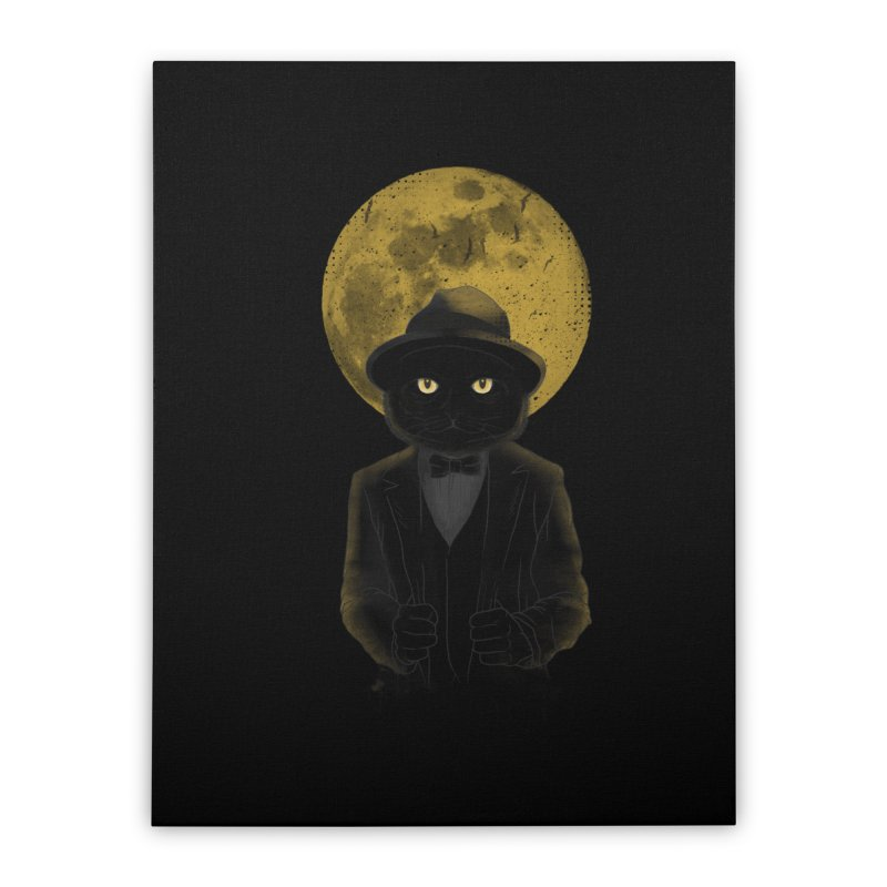 Mr. Felix the Cat Home Stretched Canvas by mitchdosdos's Shop