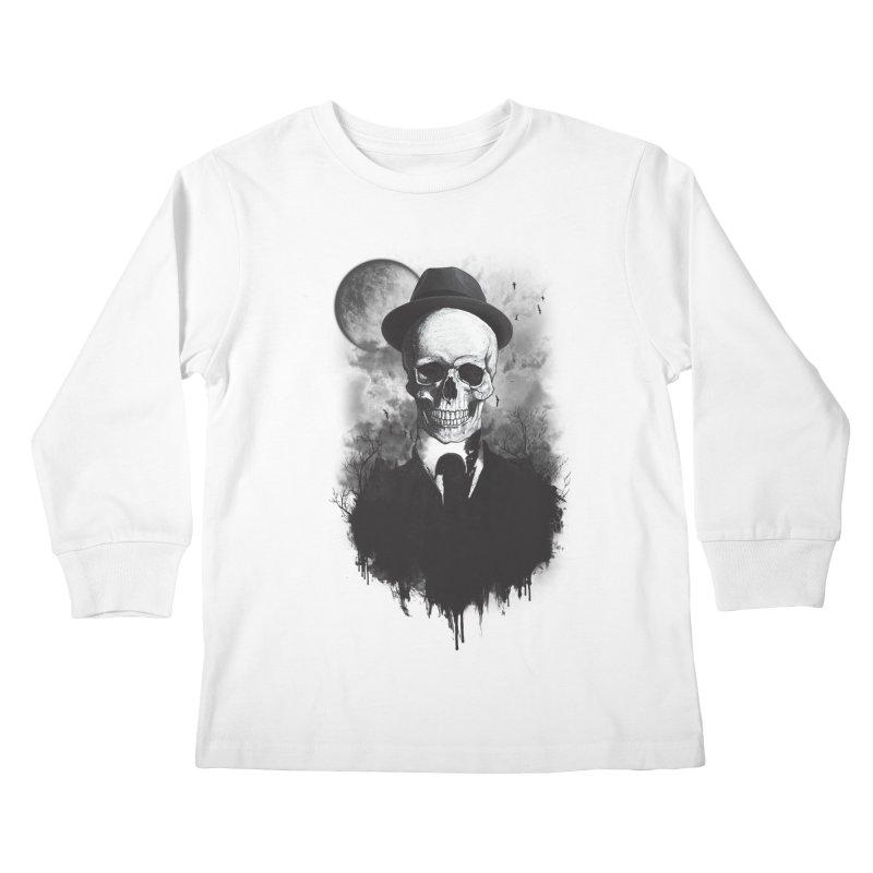 Mr. Valentino Kids Longsleeve T-Shirt by mitchdosdos's Shop