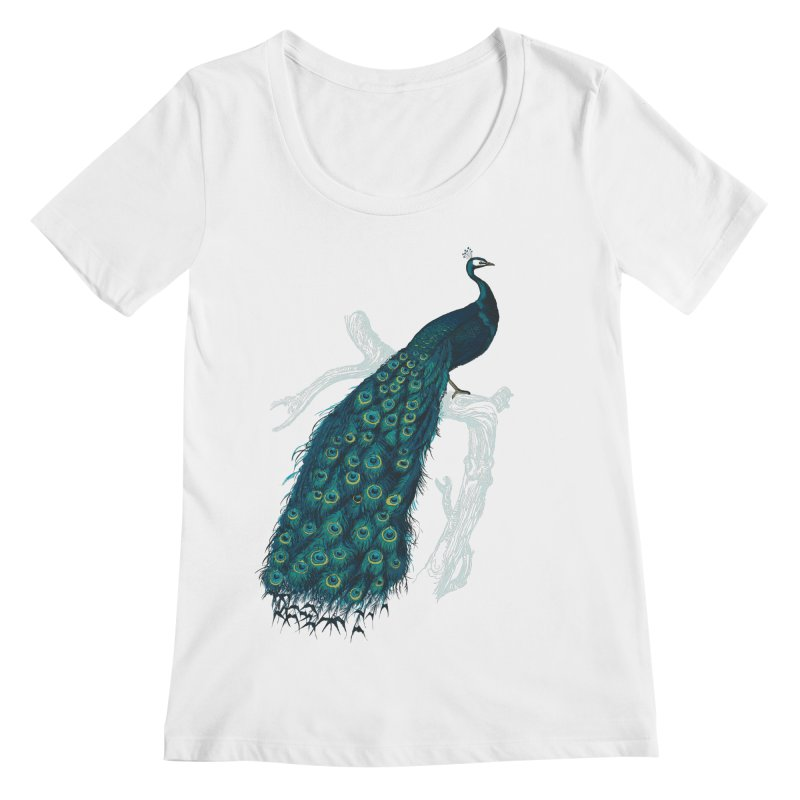 Shake Your Tail Feather Women's Regular Scoop Neck by Mitchell Black's Artist Shop