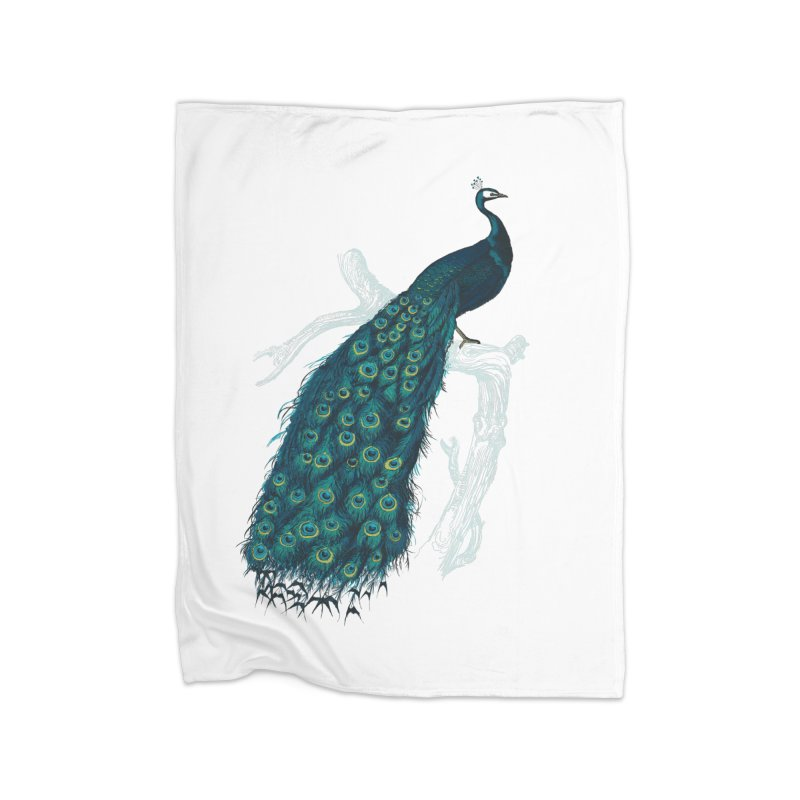 Shake Your Tail Feather Home Fleece Blanket Blanket by Mitchell Black's Artist Shop