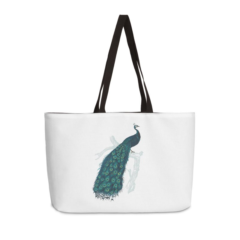 Shake Your Tail Feather Accessories Weekender Bag Bag by Mitchell Black's Artist Shop