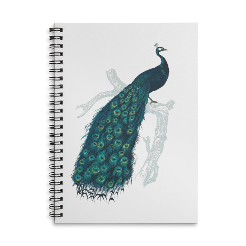 Shake Your Tail Feather Accessories Lined Spiral Notebook by Mitchell Black's Artist Shop