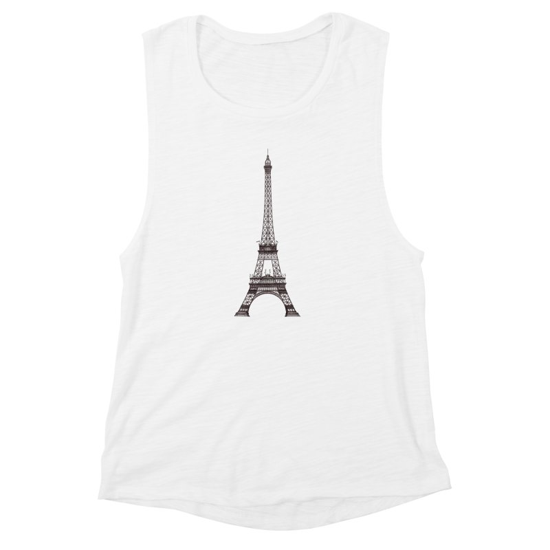 La Tour Eiffel Women's Muscle Tank by Mitchell Black's Artist Shop