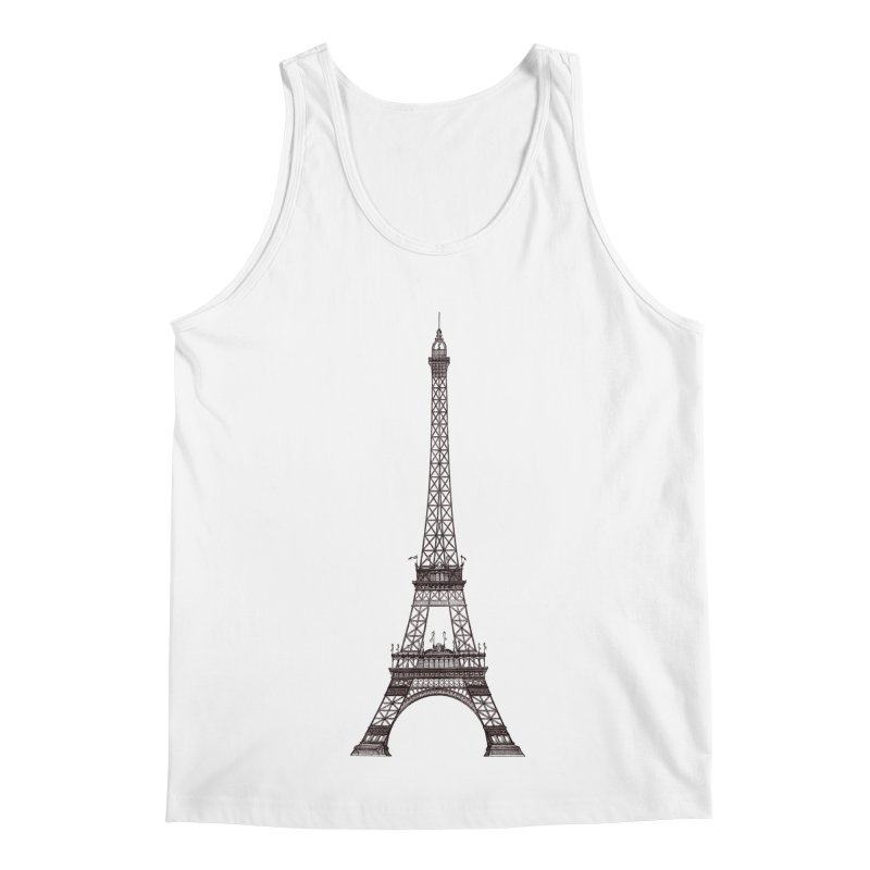 La Tour Eiffel Men's Regular Tank by Mitchell Black's Artist Shop