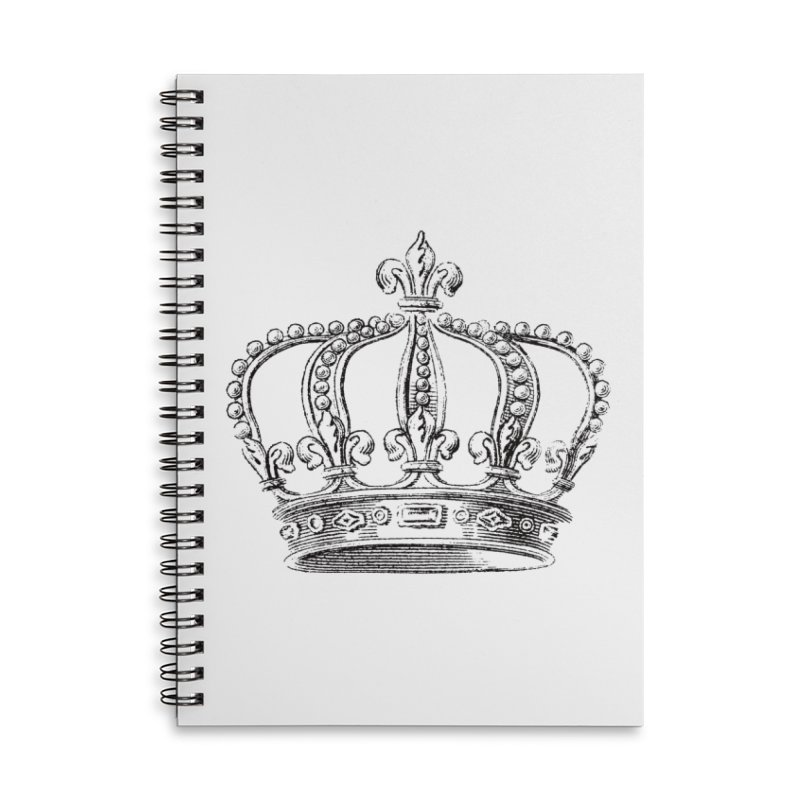 Your Royal Highness Accessories Lined Spiral Notebook by Mitchell Black's Artist Shop