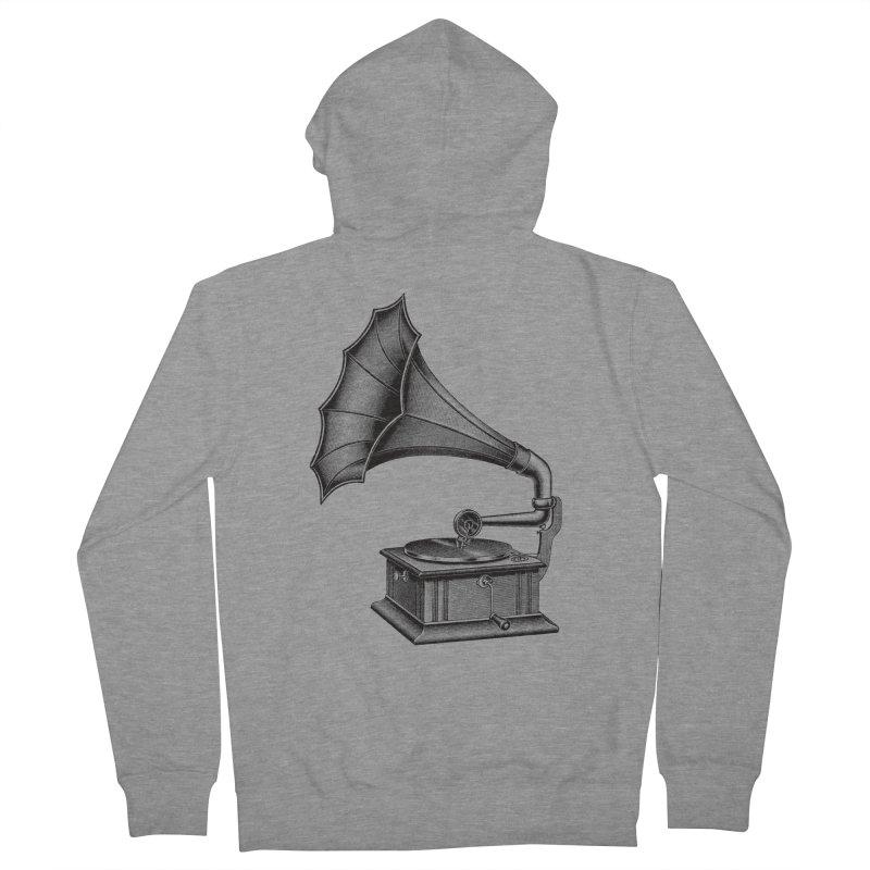 Phonograph Women's Zip-Up Hoody by Mitchell Black's Artist Shop
