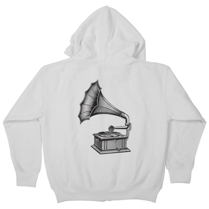 Phonograph Kids Zip-Up Hoody by Mitchell Black's Artist Shop