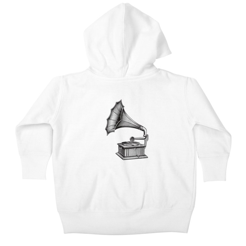 Phonograph Kids Baby Zip-Up Hoody by Mitchell Black's Artist Shop