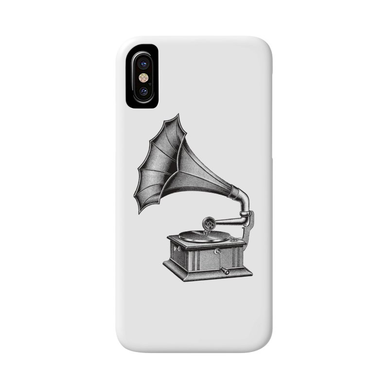 Phonograph Accessories Phone Case by Mitchell Black's Artist Shop