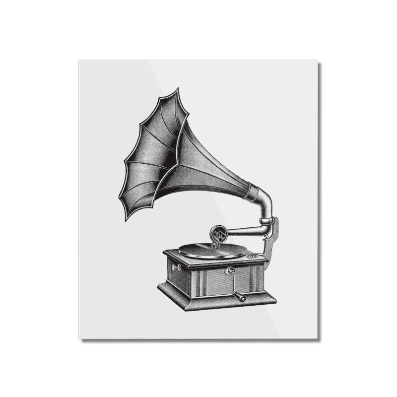 Phonograph Home Mounted Acrylic Print by Mitchell Black's Artist Shop