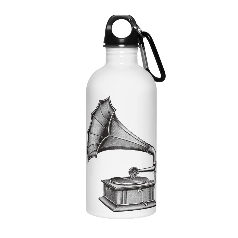 Phonograph Accessories Water Bottle by Mitchell Black's Artist Shop