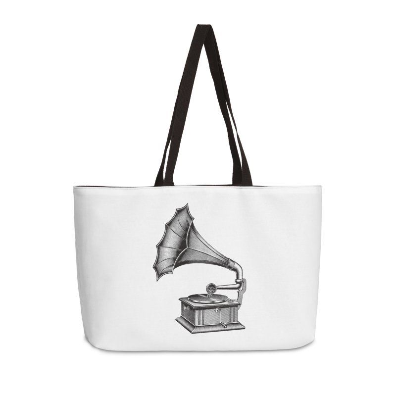 Phonograph Accessories Weekender Bag Bag by Mitchell Black's Artist Shop