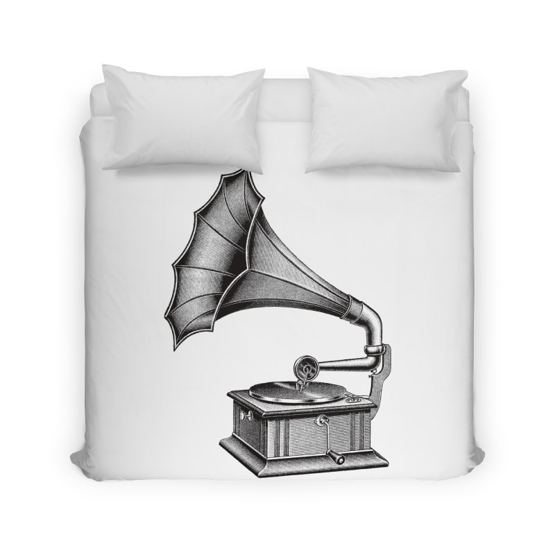 Phonograph Home Duvet by Mitchell Black's Artist Shop