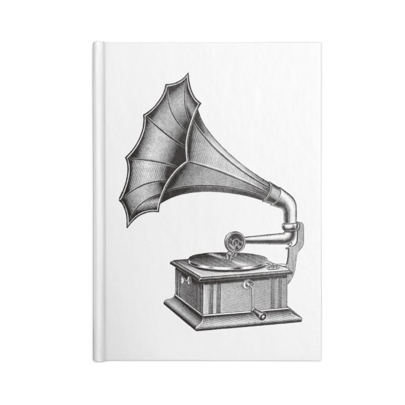 Phonograph Accessories Lined Journal Notebook by Mitchell Black's Artist Shop