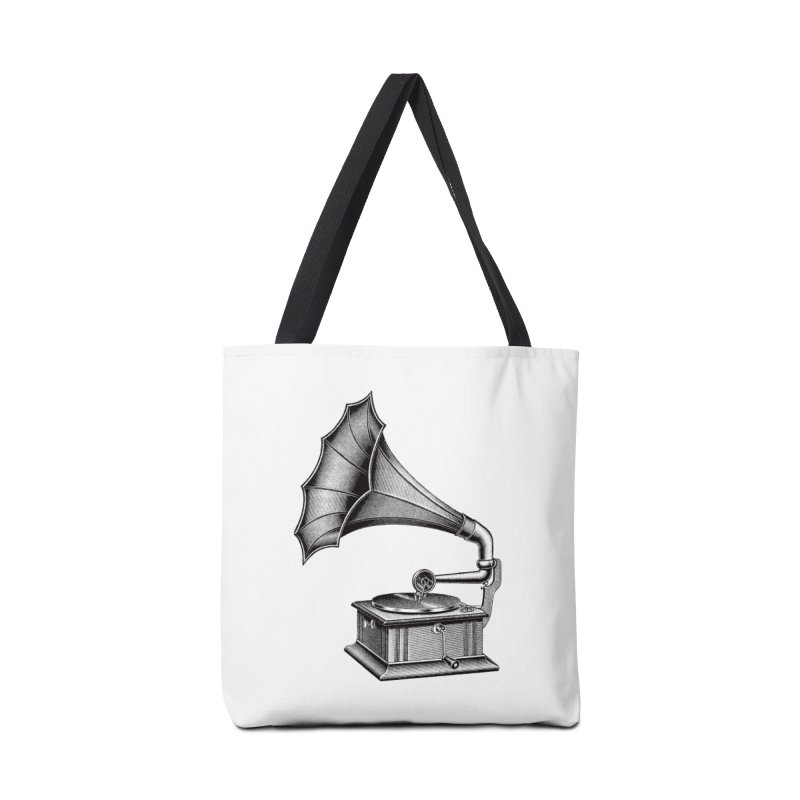 Phonograph Accessories Tote Bag Bag by Mitchell Black's Artist Shop