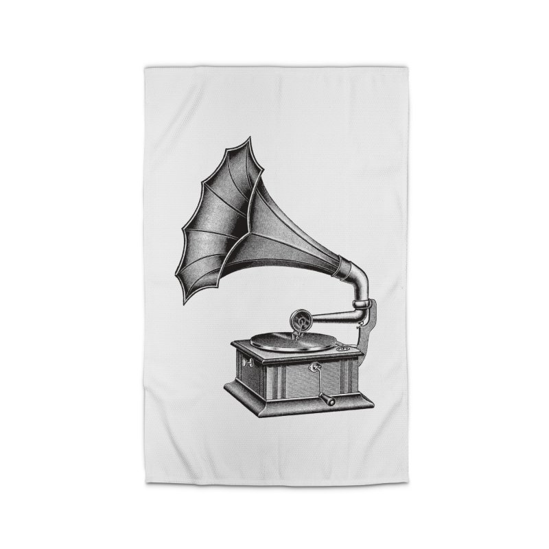 Phonograph Home Rug by Mitchell Black's Artist Shop