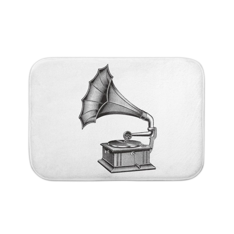 Phonograph Home Bath Mat by Mitchell Black's Artist Shop