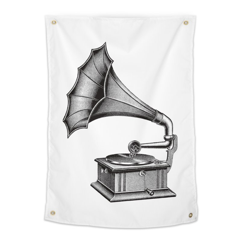 Phonograph Home Tapestry by Mitchell Black's Artist Shop