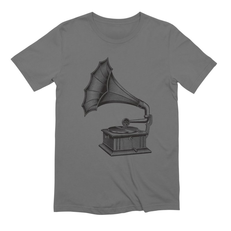 Phonograph Men's T-Shirt by Mitchell Black's Artist Shop