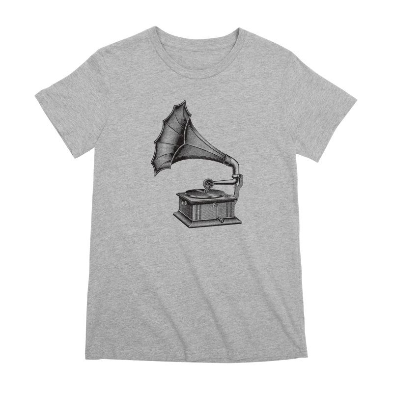 Phonograph Women's Premium T-Shirt by Mitchell Black's Artist Shop