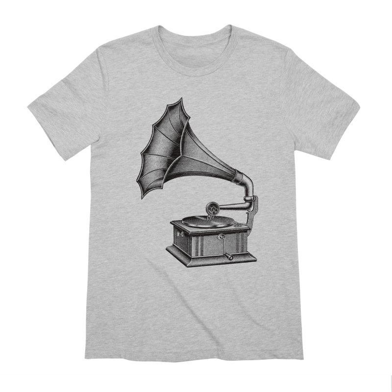 Phonograph Men's Extra Soft T-Shirt by Mitchell Black's Artist Shop