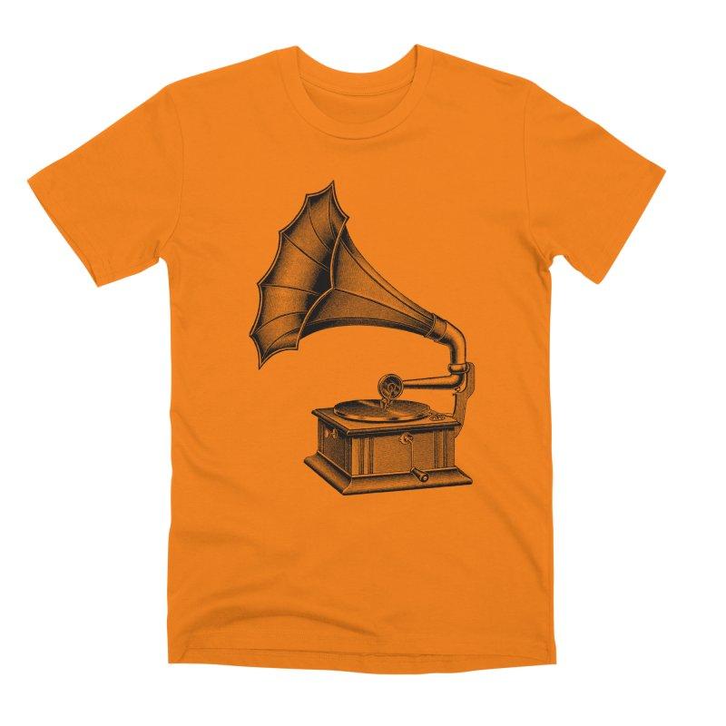 Phonograph Men's T-Shirt by Mitchell Black's Artist Shop