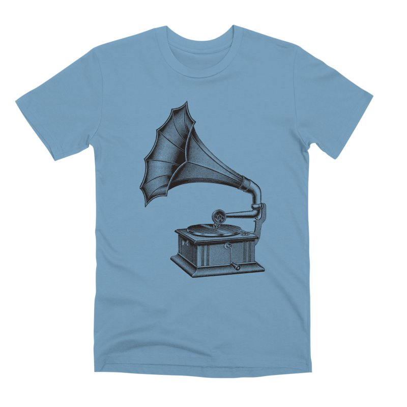 Phonograph Men's Premium T-Shirt by Mitchell Black's Artist Shop