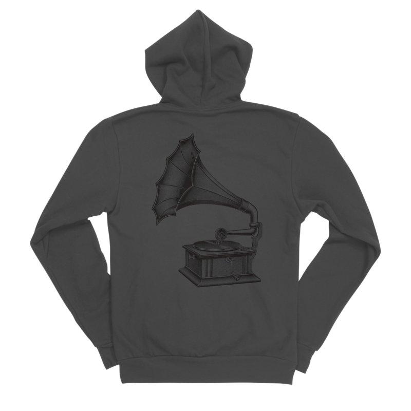 Phonograph Men's Sponge Fleece Zip-Up Hoody by Mitchell Black's Artist Shop