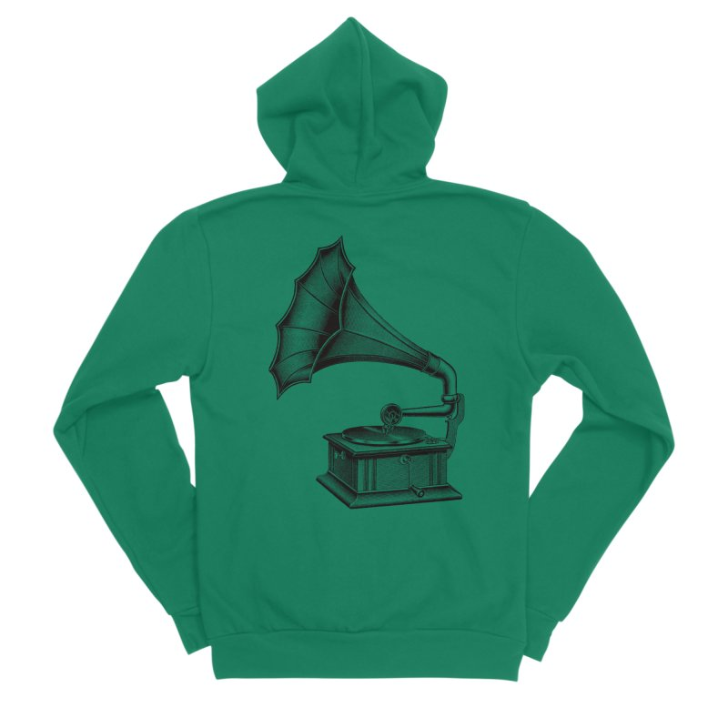 Phonograph Men's Sponge Fleece Zip-Up Hoody by Mitchell Black's Artist Shop