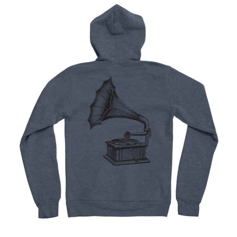 Phonograph Women's Sponge Fleece Zip-Up Hoody by Mitchell Black's Artist Shop